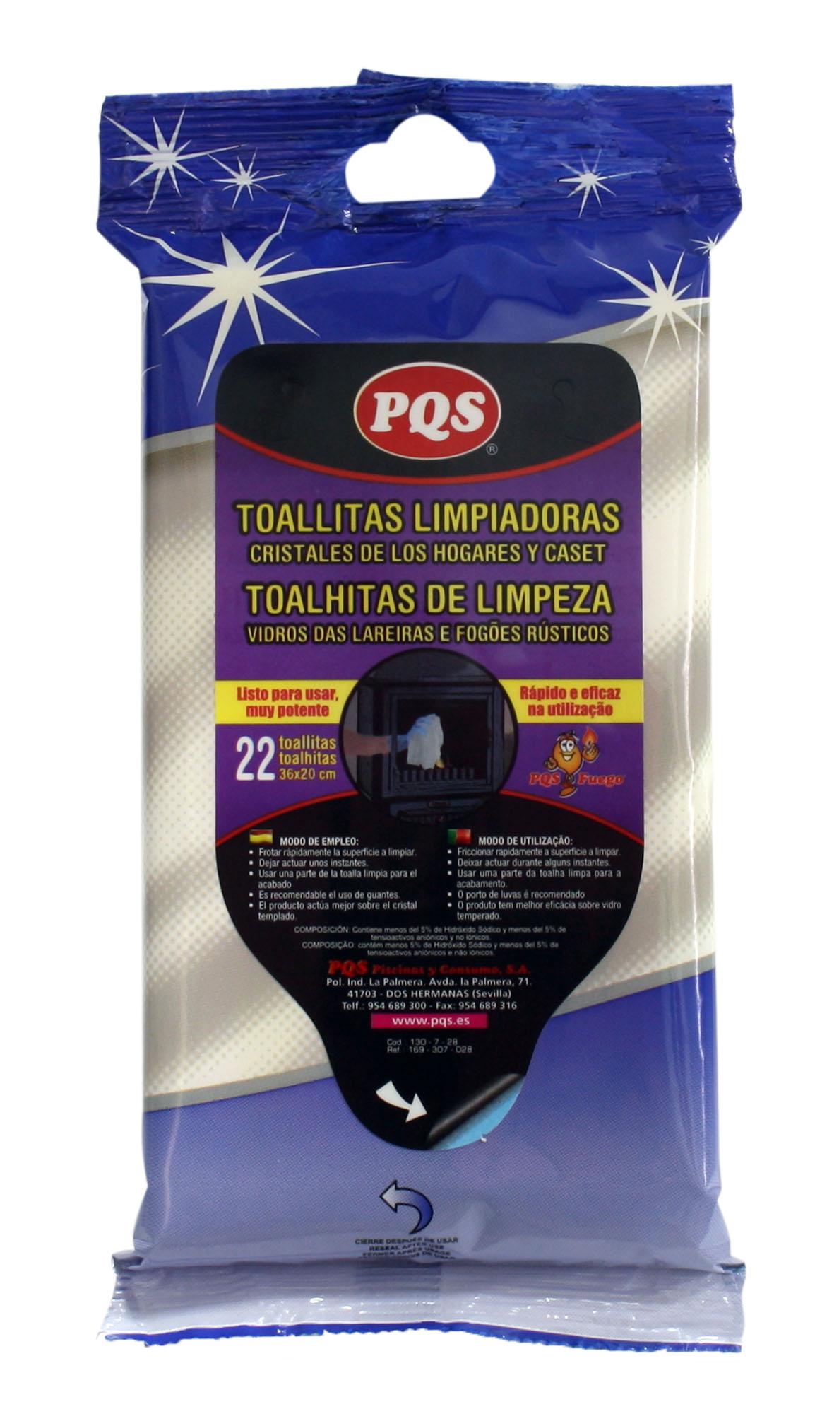 TOALLITAS CRISTALES ESTUFAS PQS CHIMENEAS 1307028 PQS PISCINAS Y CONSUMO